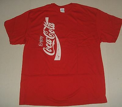 Bright Red Coca-Cola Distressed T-Shirt XL