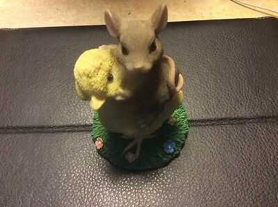 Fitz and Floyd Charming Tails Chickie Back Ride Figurine #88/700