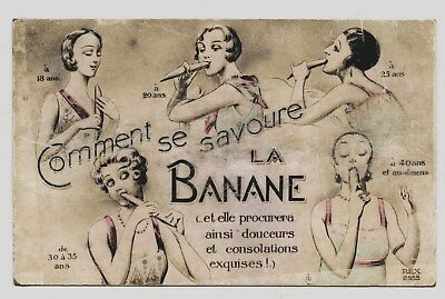éROTIQUE.EROTIC.RISQUE.EROTICA.LOVE. COMMENT SE SAVOURE LA BANANE,FRUIT éROTIQUE