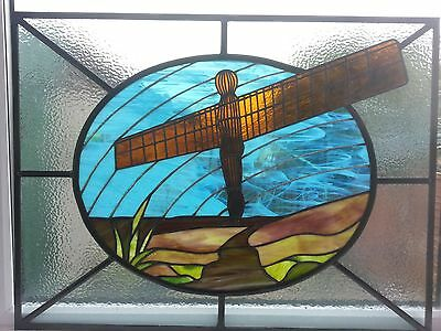 Angel of the North stained glass panel