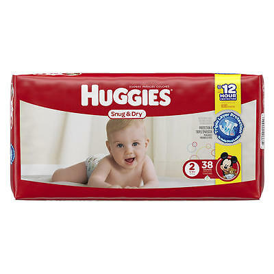 Huggies Snug and Dry Diapers Size 2 38 ct, Brand New!!