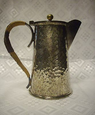 "Vintage Silver On Copper Milk Pitcher""very Heavy""made In England"""