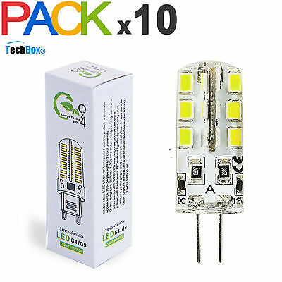 Lot de x10 ampoule led G4 3W 12V blanc froid ou blanc chaud TechBox®