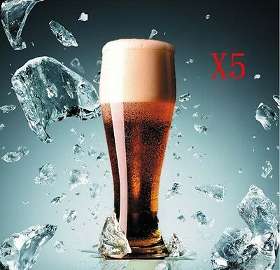 New 5X Capacity 500ML Height 194MM Lead Free Beer Wine Glass/Glassware %