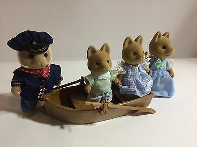 Sylvanian Families Rare Seadog Family And Row Boat