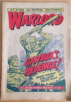 Warlord Comic #59 November 1975 DC Thompson