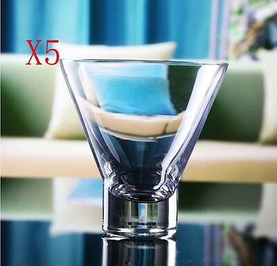 New 5X Capacity 200ML Height 110MM Lead Free Cocktail Wine Glass/Glassware %