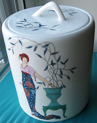 VINTAGE Maruri ART DECO bone china COOKIE JAR mint RARITY full set available SEE