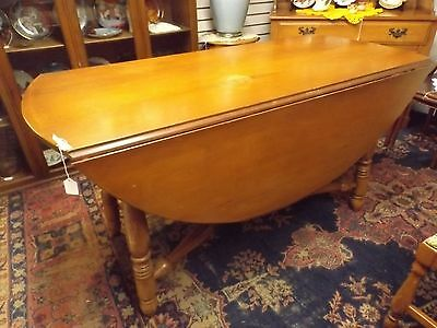Solid Maple Drop Leaf Dining Room Table
