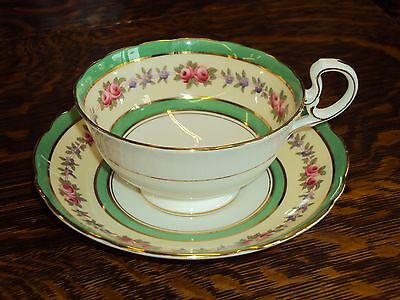 Vintage Wide Mouth Floral Aynsley Tea Cup & Saucer