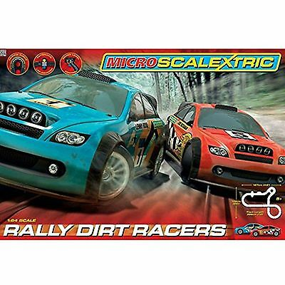 Micro Scalextric Rally Dirt Racers Racing Set 1:64 Scale G1096 - NEW