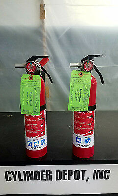 First Alert 2.5lb 2.5# Fire Extinguisher - ABC - New Cert Tag - Two Pack -
