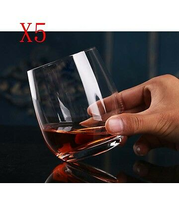 New 5X Capacity 70ML Height 57MM Transparent Whisky Wine Glass/Glassware %