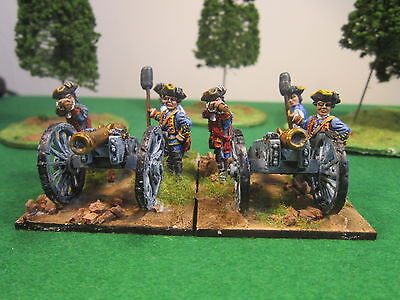 28mm Front Rank SYW British Artillery 2 guns and 8 crew painted figures