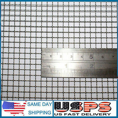 STAINLESS STEEL WOVEN wire mesh, 30cm square sheet. (Fine - Heavy ...