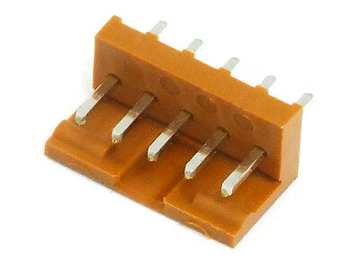 5-Pin PCB Wire-To-Board Male Header Connector Brown / Pen Strip 5-polig Brown