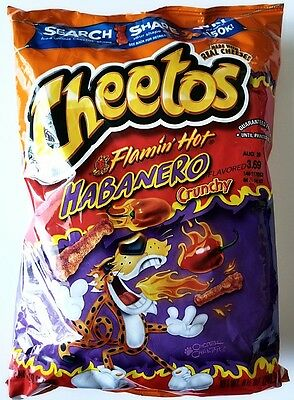 New 2017 Cheetos Flamin' Hot Habanero Crunchy Chips Free Worldwide Shipping