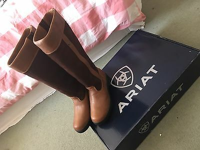 Ariat Windermere Long Country Boots Waterproof - Chocolate UK 4 1/2