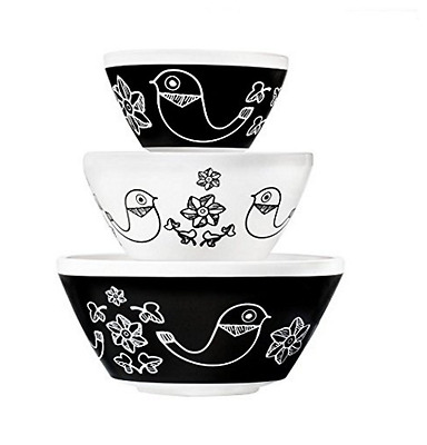 Pyrex Vintage Birds of a Feather 3 Piece Mixing Bowl Set inspired by