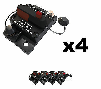 QTY4 VCB60 12V-48VDC 60 Amp Resettable PLOWS AND SPREADERS Circuit Breaker