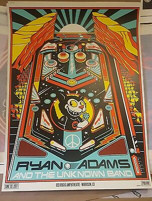 Ryan Adams Red Rocks Poster 2017 *Sold Out At Show*
