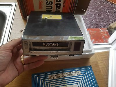 """Vintage Automobilia Classic Car 8 Track Stereo Player..in box..""""MUSTANG"""""""