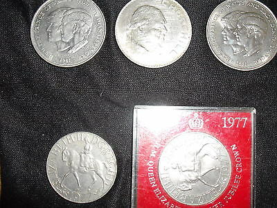 5 commemorative coins1965/1977/1981