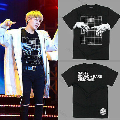 KPOP BTS Suga Maglietta Nera Seeing is believing Tshirt Manichecorte BangtanBoys