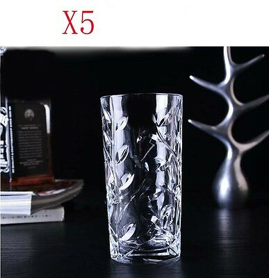 New 5X Capacity 360ML Height 145.5MM Transparent Cocktail Wine Glass/Glassware %
