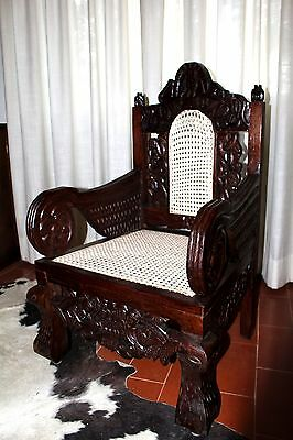 Sedia antica scolpita mogano XIX kenya Africa Antique chair in wood kenya Lamu