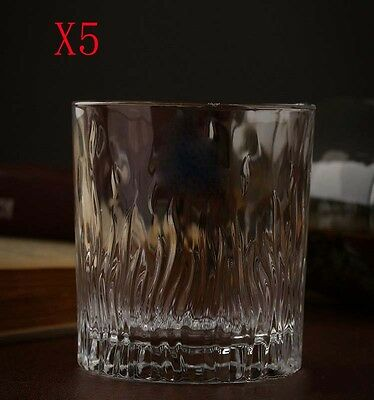 New 5X Capacity 243ML Height 85MM Straight Body Whisky Wine Glass/Glassware %