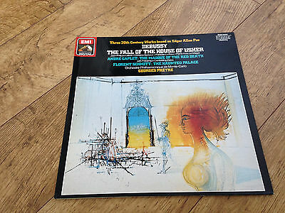 Debussy the fall of the house of usher georges pretre LP vinyl