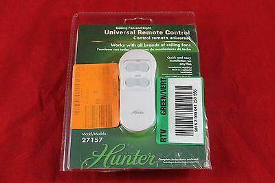 Hunter 27157 Universal On/Off Ceiling Fan and Light Remote Control (27157)