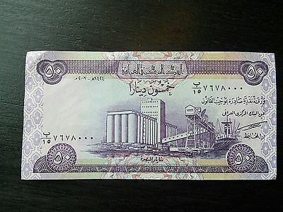 50 Iraqi Dinar $50.00 Iraq IQD Uncirculated UNC Currency Banknote Sequential