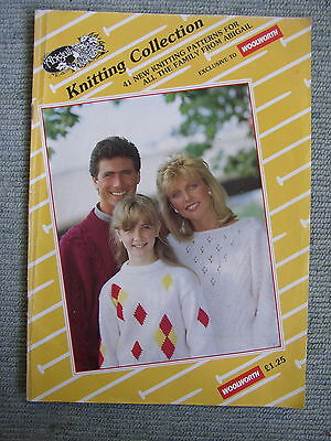 Vtg 80s Knitting pattern booklet 41 Jumpers Ladies Childs Mens Baby Clothes*PICS