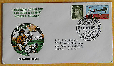 1969 2nd Australian Senior Scout Venture cancel special cover to US Nunawading