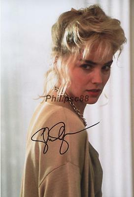 Sharon Stone Genuine Autographed 12x8inch photograph