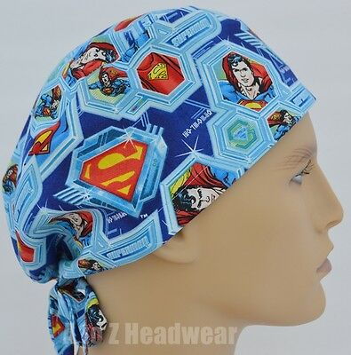 Superman Arctic Warrior Ice Crystal TRADITIONAL Unisex Surgical Scrub Hat Cap