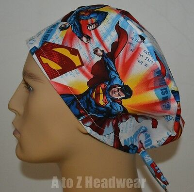 DC Comics It's Superman on White TRADITIONAL Unisex Surgical Scrub Cap Hat