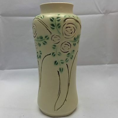 "Roseville Art Pottery Velmoss Scroll 10"" Vase - Exc Cond."