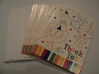 Animal Party Baby Shower Thank You Cards (8 Count)