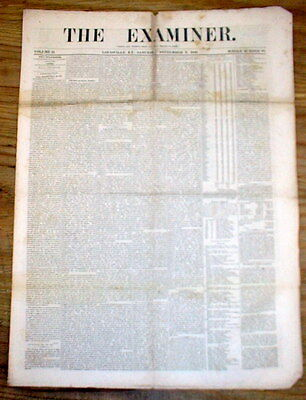 Orig 1848 Louisville KENTUCKY newspaper EFFORTS for COLORED PEOPLE of BALTIMORE
