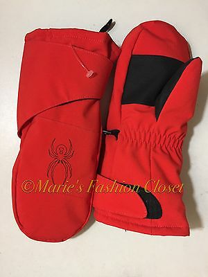 Little Boys Sz: Large SPYDER Mini Cubby Insulated Waterproof Ski Mittens Red