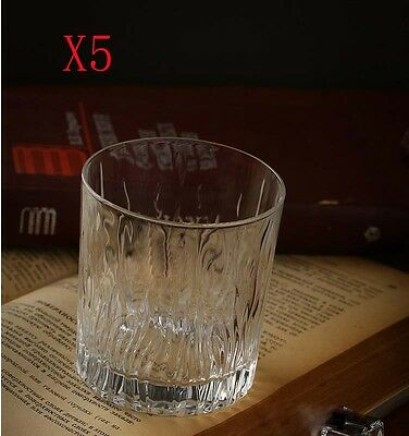 New 5X Capacity 327ML Height 90MM Straight Body Whisky Wine Glass/Glassware %