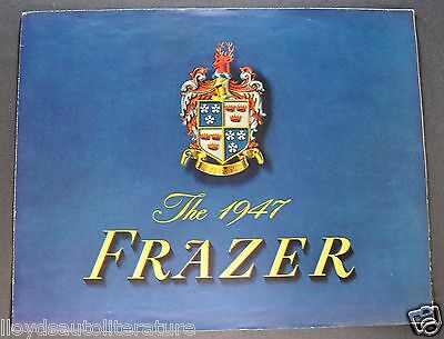 1947 Frazer Sales Brochure Folder Nice Original 47