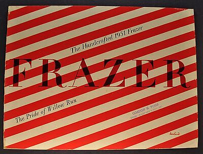 1951 Frazer 16pg Catalog Sales Brochure Manhattan Vagabond Excellent Original 51