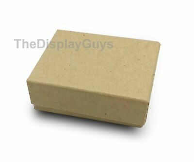 """US Seller~100pcs 1 7/8""""x1 1/4""""x5/8"""" Kraft Cotton Filled Jewelry Gift Boxes"""