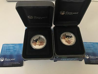 Australia Sea Life 1/2 Oz Silver Proof The Reef Series Sea Lion Coin Mint