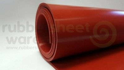 "High Temp FDA 36/"" x 36/"" Red Silicone Rubber Sheet 1//16/"" thick 45 durometer"