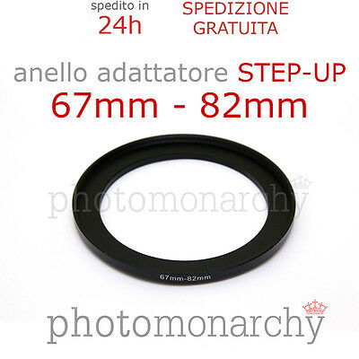 Anello STEP-UP adattatore da 67mm a 82mm filtro - STEP UP adapter ring 67 82 mm